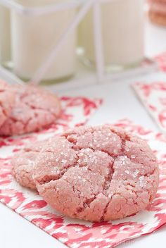 Strawberry Sugar Cookies are just the ticket for that sweets attack that's about to hit! Flavored with a natural strawberry flavoring, they are amazing!