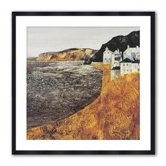 The Print Store - Coastal Hamlet Two, Framed Print, 40x40cm