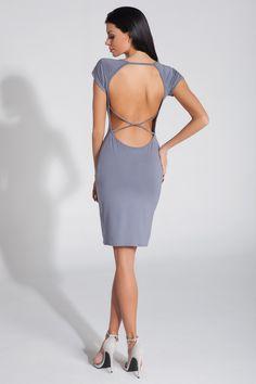 Sukienka Model F287 Grey Fobya Zapraszam na www.margery.pl