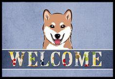 Shiba Inu Welcome Mat