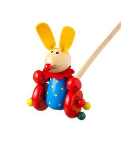 ... at this Cute Rabbit Push Along by Orange Tree Toys on #zulily today