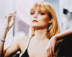 Friday Style Icon: Michelle Pfeiffer as Elvira Hancock in Scarface Elvira Hancock, Michelle Pfeiffer Scarface, Stephane Audran, Mob Wives, Pixie, Italo Disco, Robert Mapplethorpe, David Hockney, Oscar