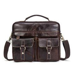 OGRAFF Genuine Leather Bag Men Messenger Bags Handbag Briescase Business Men Shoulder Bag High Quality 2017 Crossbody Bag Men