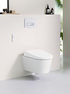 Inodoro bidé suspendido Geberit AquaClean Sela. Un diseño elegante y compacto para disfrutar en tu propio baño del frescor de la higiene íntima solo con agua.