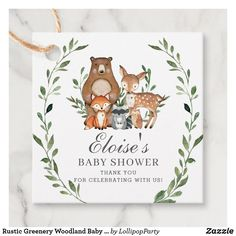 Shop Woodland Animals Greenery Baby Shower Welcome Sign created by LollipopParty.
