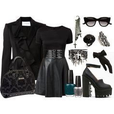 """dark Chic"" by goth-dolly on Polyvore"