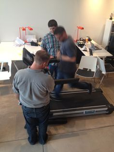 Last week during our Thirsty Thursday meeting we got a BIG surprise. The treadmill that we've been saving up for was finally delivered to the office! Our Director of Design, Ryan wanted to see how fast it would go. #health #fitness #wellness #advocate #advocates #advocating #exercise #running #run #workout #getactive #workitout #office #EmpowHER