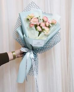 Ideas Flowers Bouquet Wrapping Floral For 2019 Flower Bouquet Diy, Gift Bouquet, Bouquet Wrap, Hand Bouquet, Floral Bouquets, Wrapping Bouquets, Boquette Flowers, How To Wrap Flowers, Dried Flowers