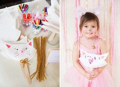 Darling Pretty Pink Kitty Cat Birthday Party // Hostess with the Mostess®