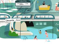 Canada Line | Tom Froese, Vancouver illustrator