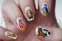 Christmas nails  have to try this on Christmas day or, 10 days before Christmas like an advent calendar.