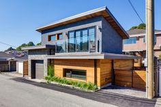 57th and Vivian, Vancouver Canada ... Modular, Prefabricated, Net Zero Solar laneway home