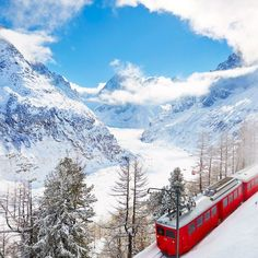 Chamonix's Montenvers Railway in the Alps