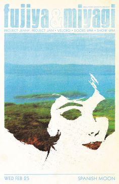 Fujiya & Miyagi / Project Jenny, Project Jan / Velcro. Poster design: Scott Campbell (2009).