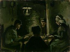 Vincent Van Gogh (1853–1890) - Etude pour Les Mangeurs de pommes de terres, 1885 - Huile sur toile - 33,6 x 44,5 cm - Amsterdam, Van Gogh Museum