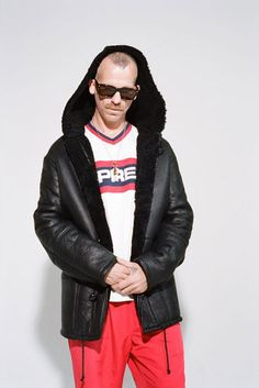 Jason Dill for Supreme Fall Winter 2015 and THEM Magazine by Ari Marcopoulos Jason Dill, Fall Winter 2015, Winter Collection, Hypebeast, Supreme, Cool Outfits, Editorial, Winter Jackets, Leather Jacket