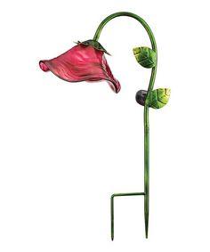 Look what I found on #zulily! Pink Bell Flower Solar Garden Stake #zulilyfinds