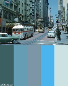 San Francisco - Powell Street (1959) Color Scheme