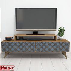 Comoda Tv City - Kalsedon/Nuc Living Room Tv Cabinet Designs, Living Room Sofa Design, Tv Unit Furniture, Furniture Design, Tv Unit Decor, White Tv, Tv Unit Design, Led Panel, Center Table