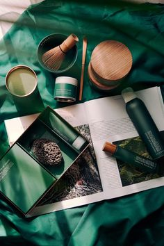 The Ritual of Chado - Rituals limited summer range Ad Photography, Flat Lay Photography, Brand Innovation, Green Theme, Beauty Shots, Skin So Soft, Herbalism, Cosmetics, Skin Care