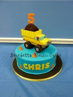Construction Truck Cake By AdventuresInCaking on CakeCentral.com
