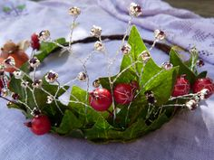 Winter fairy queen crown by dancingwithbadgers on Etsy