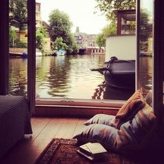 Houseboat View, Amsterdam, The Netherlands