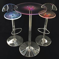 Spyra Glowing Cafe Table & Chairs ~This cafe table & chair set actually lights up!