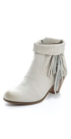81a4fc93a05676 Sam Edelman Louie Fringe Booties-ivory fringe cowboy ankle boots