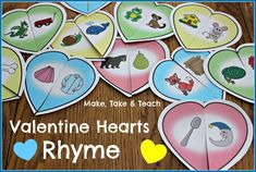Fun Valentine's Day activity for learning rhyme!