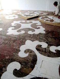 i love this idea but only with this kind of flooring.