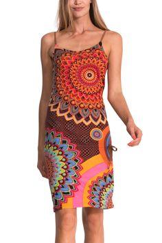 Psychedelische jurk met schouderbandjes | Desigual Tobago