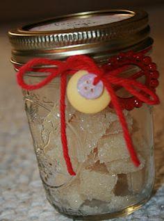 Homemade vanilla sugar cubes as a gift for a coffee addict