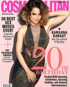 regram @kanganaranautfanclub Kangana on the cover of #Cosmopolitan October 2016  - #kanganaranaut #bollywood