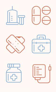 의료 병원 아이콘 6개 .AI