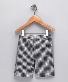 $9. Take a look at this Black Plaid Shorts - Infant, Toddler & Boys by S.P.UDZ on #zulily today!