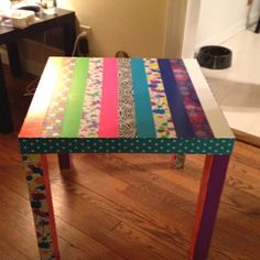 Duct tape table--so cool!!!