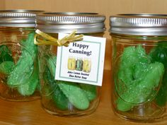 Soap pickles in a jar