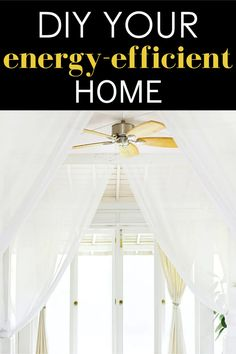 Save money on your electric bill this summer with an energy-efficient home. Light Blocking Curtains, Curtains With Blinds, Energy Efficient Homes, Energy Efficiency, Stand Fan, Heating And Air Conditioning, Ways To Save Money, Program Design, Shopping Hacks