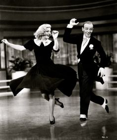 Swing Time (1936) by George Stevens  with Fred Astaire & Ginger Rogers. I fangirl over them so much. They are so adorable! D: