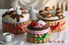 Care amiche, che ne dite di un tè in compagnia?     Magari accompagnato da una deliziosa torta di savoirardi! Eccovi le nostre ultime creazi...