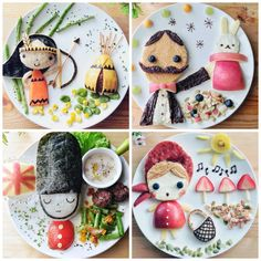 Insanely creative kids' lunches. Whoa. someone has a LOT of time on their hands.
