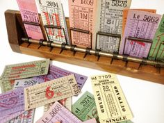 Vintage Bus Conductors Ticket Holder With Blocks Of