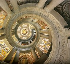 The upper part of the helix staircase of the Villa Farnese at Caprarola, Lazio, Italy