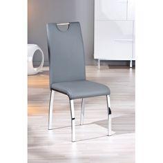 Superbe chaise faite à base de simili cuir de haute qualité. Confortable et solide, celle-ci vous sera fidèle pour une longue durée. Dimension: 44x54X102 cm...