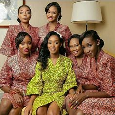 Check out over 500 stunning and Enchanting Ankara styles. Take a good look at them and start adding some to your collections. Loads of looks to choose from your favourite below Traditional Wedding Attire, African Traditional Wedding, African Prom Dresses, African Fashion Dresses, Bridesmaid Robes, Brides And Bridesmaids, Kente Dress, African Wedding Attire, Bridal Party Robes