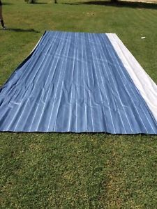 A Ae Dometic Rv Awning Replacement Fabric 14 Ft Blue Steel Sunchaser 99