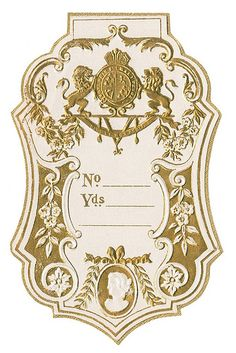Antique French Perfume Label   Flickr - Photo Sharing!
