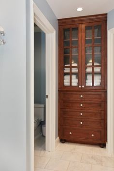 Built-in Closet. I love this. I can picture this at the end of my hallway