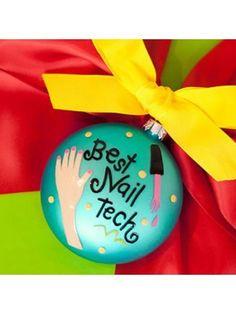 $11.75 3.5 Best Nail Tech Round Ornament Christmas Ornaments 2013   Nail nail tech